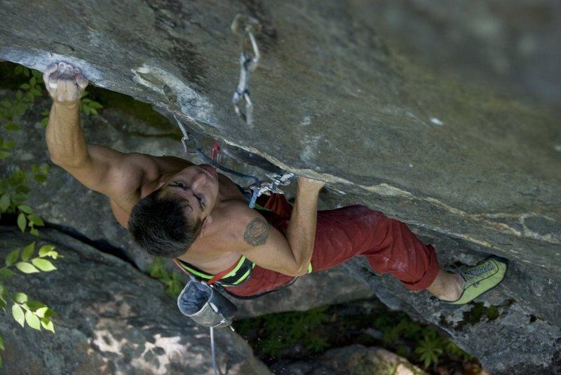 Rock Climbing Photo: Get it On 12b/c. Seth Hamel Photo.