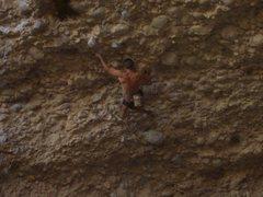 Rock Climbing Photo: Brent on Wyoming sheep shagger