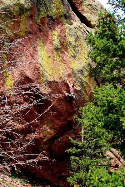 Rock Climbing Photo: Power Bulge, Flatirons.  - photo by Said.