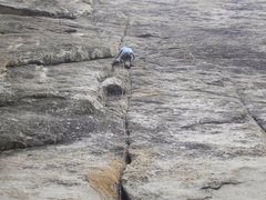Rock Climbing Photo: Abel on the first pitch of Sorcerer's Apprentice.