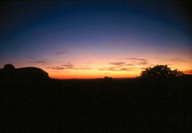 Sunset from Jackson Hole