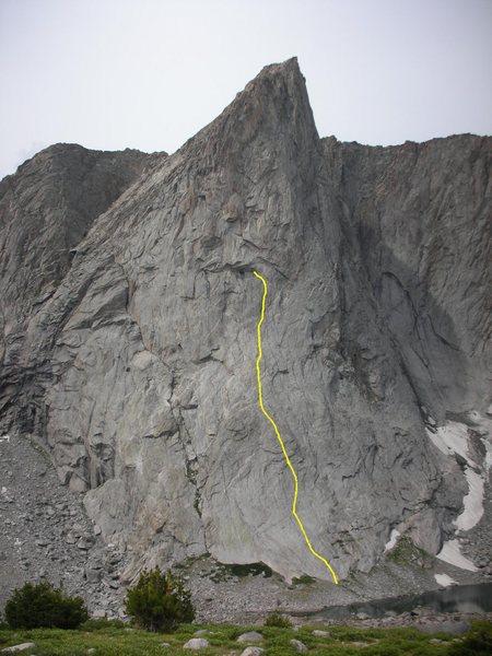 The 10 pitch route Ambush Plaisir