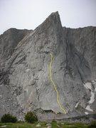 Rock Climbing Photo: The 10 pitch route Ambush Plaisir