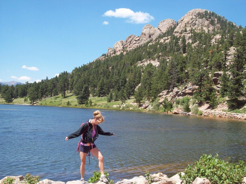 Lily Lake. I'm so excited to go climbing. I miss Co. : (