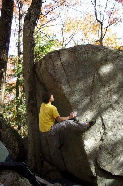 Rock Climbing Photo: Mike Robin in the trees.