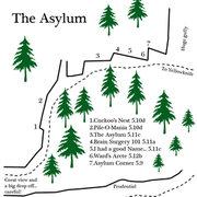 Rock Climbing Photo: The Mysterious but enjoyable Asylum wall... check ...