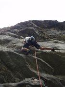 Rock Climbing Photo: Steeeeeeeeeep pitch.