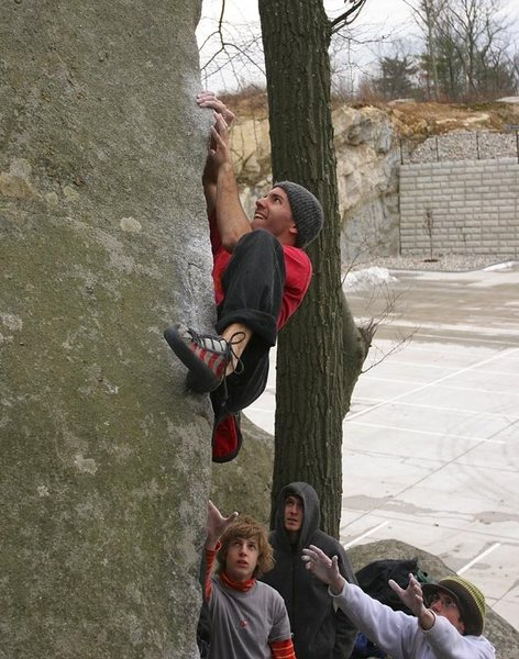 Rock Climbing Photo: Just after the parking lot went in. Used to be all...