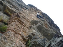 Rock Climbing Photo: Finding it challenging near the top.