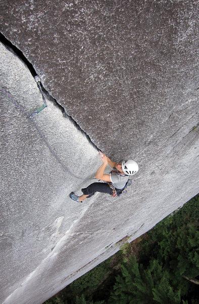 Rock Climbing Photo: The beautiful thin hands finish to Exasperator