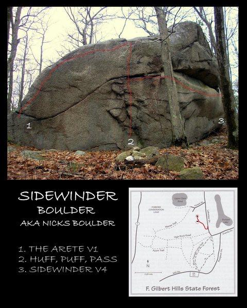 Sidewinder Boulder.