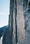 Rock Climbing Photo: Climber on Pervertical Sanctuary, taken from Black...