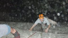 Rock Climbing Photo: Madame G's...at night...in the rain...priceless!
