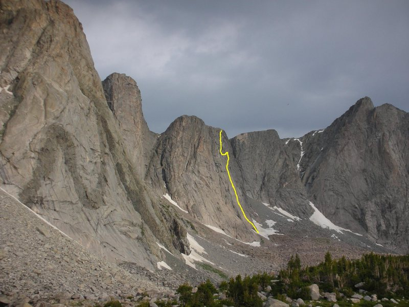 Rock Climbing Photo: Son Of Raid marked with the obvious M Buttress to ...