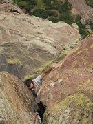 Rock Climbing Photo: Rob Kepley at the crux.