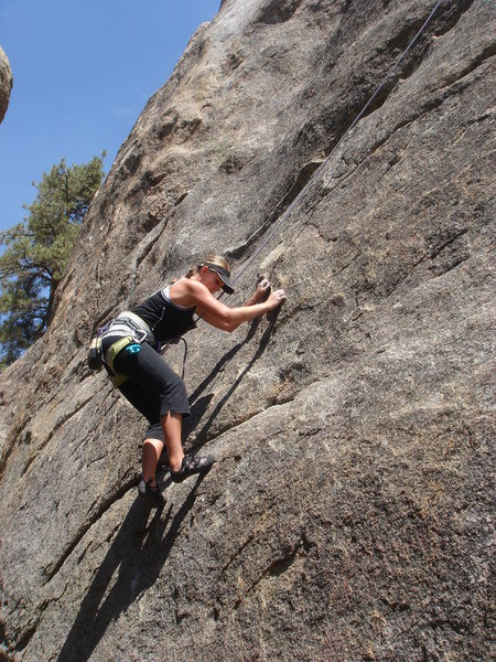 Taylor finishing the crux sequence.