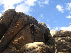 Rock Climbing Photo: Bob McD leading Billy Goat.