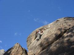 Rock Climbing Photo: leading Nice Cleavage.  photo by Joyce Tsai