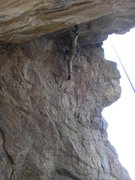 Rock Climbing Photo: Crazy stem on the 5th pitch!