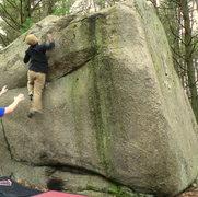 Rock Climbing Photo: two step, the short guy way