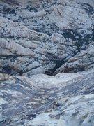 Rock Climbing Photo: Jonny rapping from Chuckawalla 21 in Mud Springs, ...