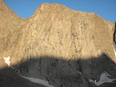 Rock Climbing Photo: The beautiful Son Of Raid slab in the morning ligh...