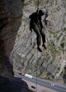 Rock Climbing Photo: A bit airy.
