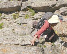 Rock Climbing Photo: Mmmm, I like to eat rock.  Scrambling to the base ...