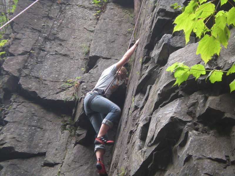Rock Climbing Photo: Climbing the dihedral