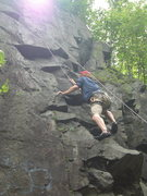 Rock Climbing Photo: Climbing outside the dihedral