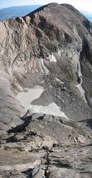 Rock Climbing Photo: Looking down the initial 5.9 pitch.