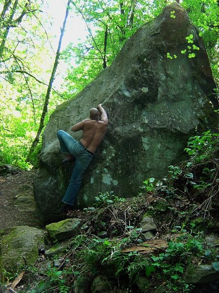 Rock Climbing Photo: Not sure which problem this was, fun easier slopey...