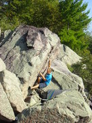 Rock Climbing Photo: Steve cranking it out.