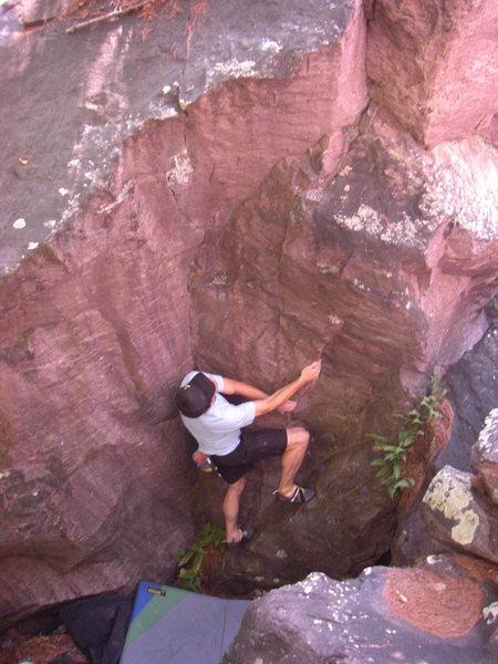Rock Climbing Photo: Remo on the FA.