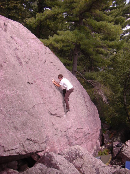 Rock Climbing Photo: Tony going for it!