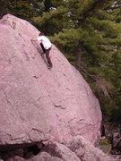 Rock Climbing Photo: Tony nearing the top.