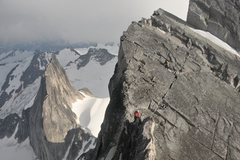 Rock Climbing Photo: Traversing the ridge on Bugaboo