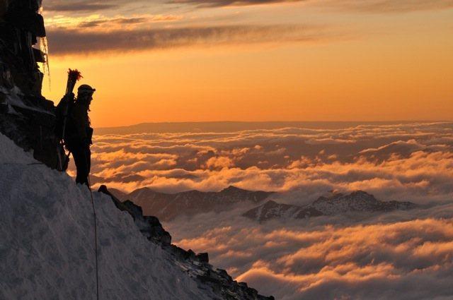 Mt Rainier.  Jon looking eastward
