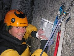 Rock Climbing Photo: Meka reading at belay