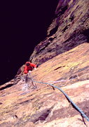 Rock Climbing Photo: Mike Broderick on 2nd pitch
