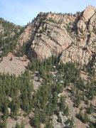 Rock Climbing Photo: Rincon Wall and Shirt Tail Peak