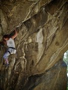 "Rock Climbing Photo: Luke Childers working on the ""Dead Line.&quot..."