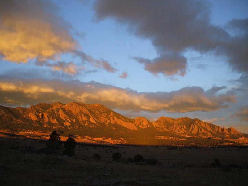 Flatirons at sunrise<br> <br>