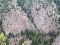 Rock Climbing Photo: Vampire Rock and Black Widow Slab
