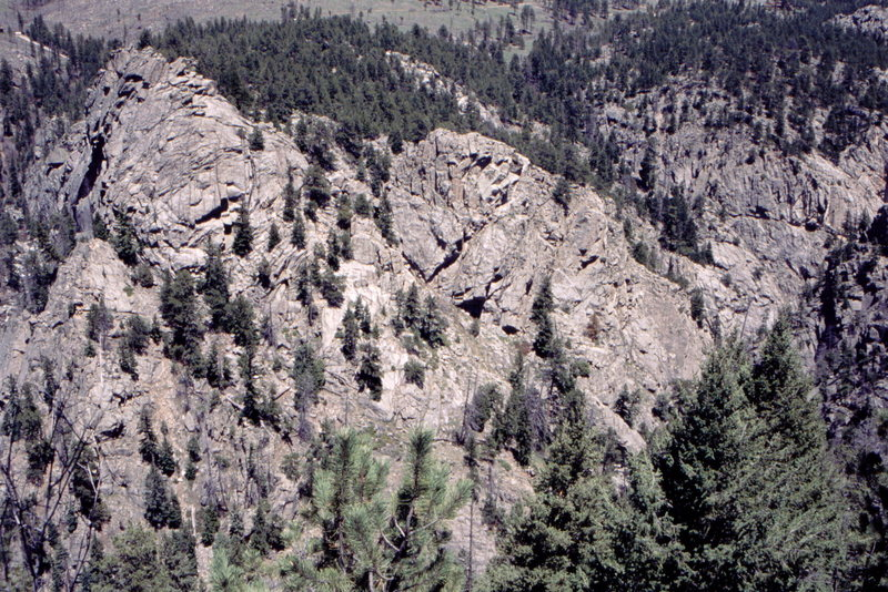 Rock Climbing Photo: LA formation and Midnight Rock, Upper Dream Canyon