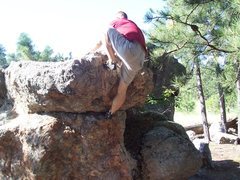 Rock Climbing Photo: topping out on the conservative