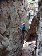 Rock Climbing Photo: Stephan on chucks route