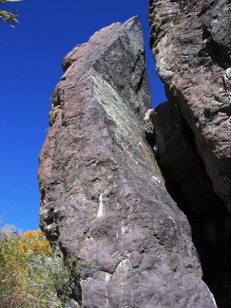 Location of the start of the Original Route on the Pinnacle.