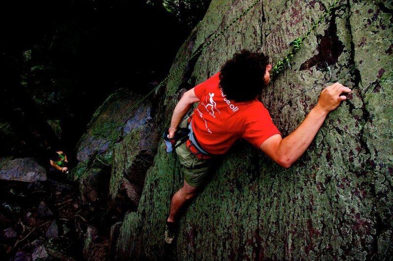 Me climbing near the layback