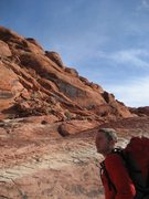 Rock Climbing Photo: Approaching Red Rocks sport climbing.  Panty Wall ...